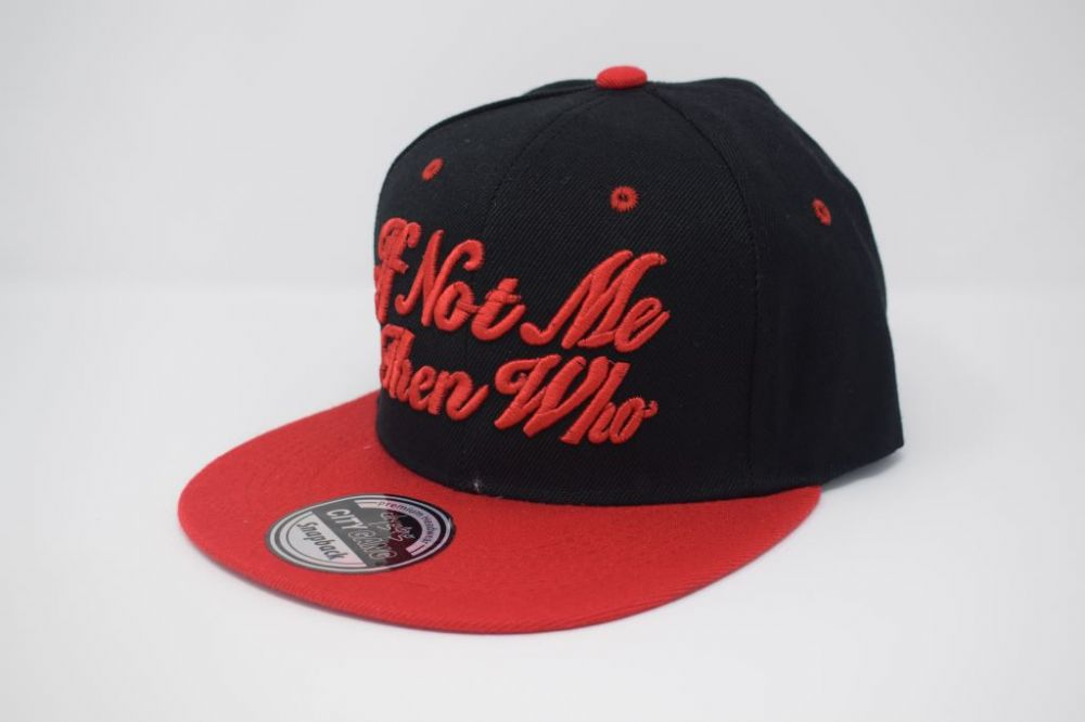 C4878, City Gang BLACK/RED  Snapback Caps, one size fits all adjustable